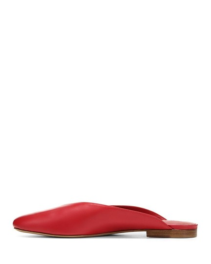Vince Luxurious Red Leather Mules Image 2