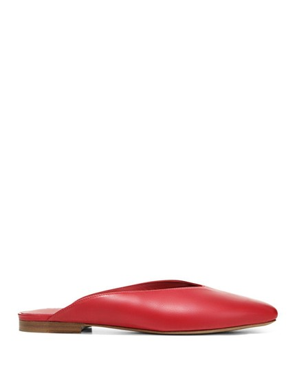 Vince Luxurious Red Leather Mules Image 3
