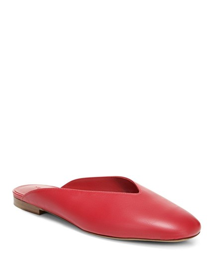 Vince Luxurious Red Leather Mules Image 4