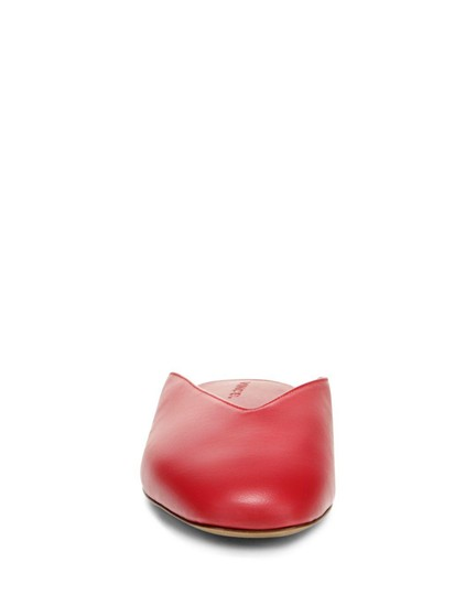 Vince Luxurious Red Leather Mules Image 6