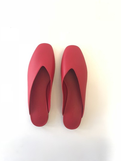 Vince Luxurious Red Leather Mules Image 7