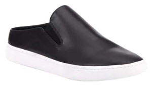 Vince Backless Sneakers Versatile Black Leather Athletic