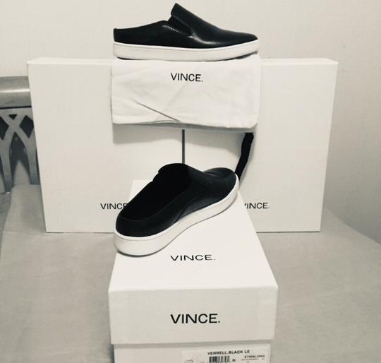 Vince Backless Sneakers Versatile Black Leather Athletic Image 11