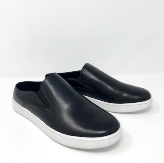 Vince Backless Sneakers Versatile Black Leather Athletic Image 4