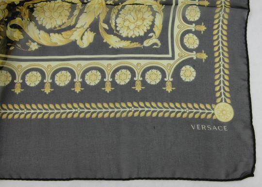 Versace Large Baroque-Print Long Silk Scarf Black Gold IST7R02 IT00863 I7900 Image 10
