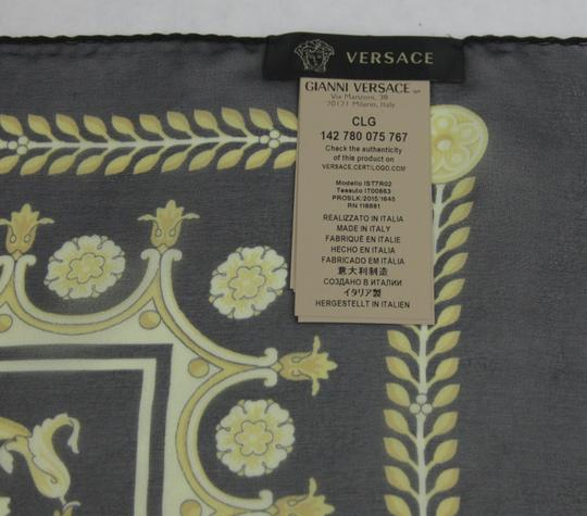 Versace Large Baroque-Print Long Silk Scarf Black Gold IST7R02 IT00863 I7900 Image 7