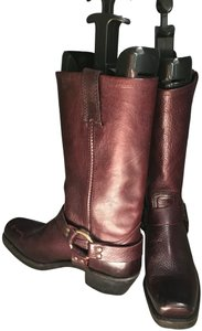 Frye Purple Cowboy Cowgirl Western Southern Mulberry Boots