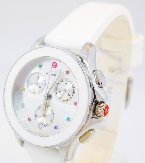 Michele Cape Silicone Stainless Steel MWW27C000001 Watch Image 4