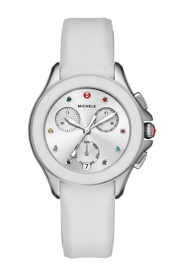 Michele Cape Silicone Stainless Steel MWW27C000001 Watch Image 9