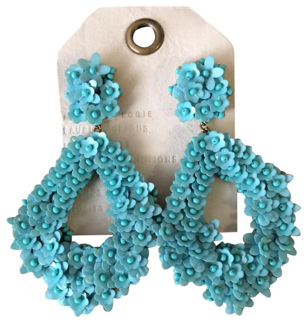 Item - Turquoise Statement Lightweight Drops Earrings