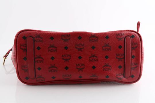 MCM Tote in Red Image 3
