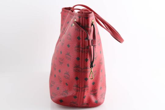 MCM Tote in Red Image 5
