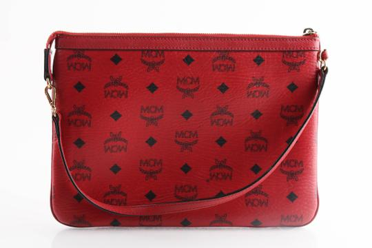 MCM Tote in Red Image 9