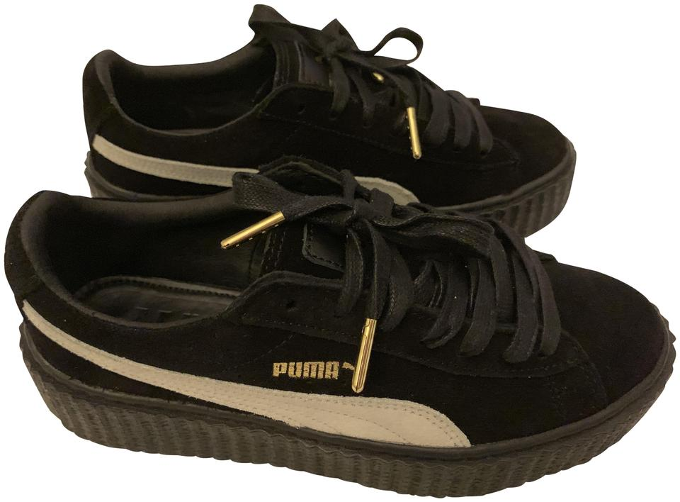 new styles 8fd48 e22a8 FENTY PUMA by Rihanna Black Star/ White Suede Creeper Sneakers Size US 7  Regular (M, B) 53% off retail