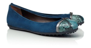 Tory Burch Suede Driver Pacey Ballet Blue Flats