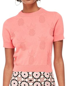 Kate Spade Pineapple Textured Short Sleeve Sweater