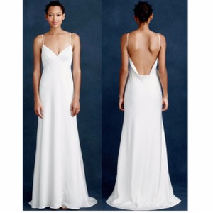 J.Crew Ivory Women's Brianna Gown Poly B6682 Formal Wedding Dress Size 2 (XS)