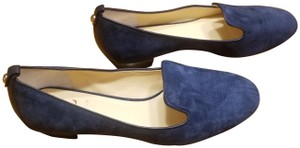 Vince Camuto Leather Loafer Navy Blue Flats