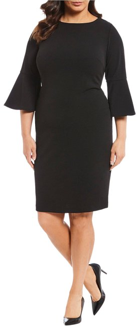 Item - Black Grommet Bell Sleeve Mid-length Night Out Dress Size 18 (XL, Plus 0x)