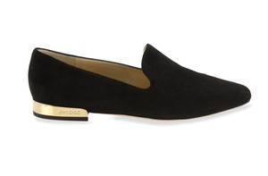 Jimmy Choo Suede Loafer Elegant Black Flats