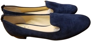 Vince Camuto Suede Real Leather 1 Inch Heel Navy Blue Flats