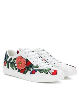 Gucci Floral Embroidered Sparkle White, Red, Green Athletic
