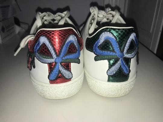Gucci Floral Embroidered Sparkle White, Red, Green Athletic Image 3