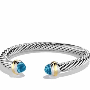 David Yurman David Yurman 7mm Cable Bracelet, Blue Topaz