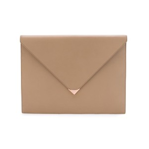 Alexander Wang Leather Rose Gold Oversized Luxury Brown Clutch