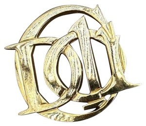Dior 14 kt Gold Plated Christian Dior Monogram Pin