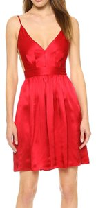 ONE by Contrarian Silk Open Back Backless Fit And Flare Skater Dress