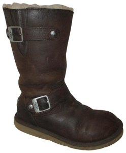 UGG Australia Leather Oiled Distressed Sheepskin Om004 brown Boots