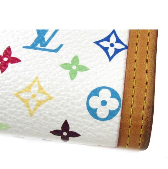 Louis Vuitton Authentic Porte tresor international trifold long wallet monogram multicolor white Image 10