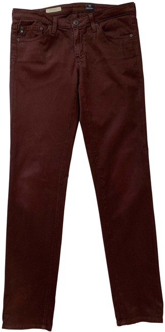 Item - Dark Red Sueded Rinse Stilt / Exclusively For Bloomingdale's Skinny Jeans Size 29 (6, M)
