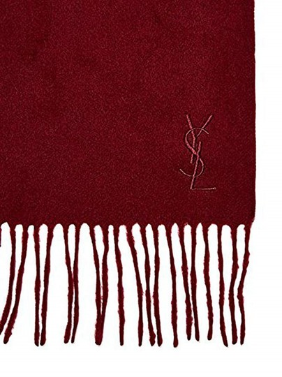 Saint Laurent Wine Ysl Yves Red Color Wool Women's Winter Image 1