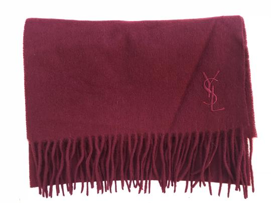 Saint Laurent Wine Ysl Yves Red Color Wool Women's Winter Image 2