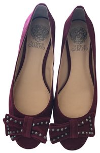 Vince Camuto Suede Silverescent Raspberry Platforms