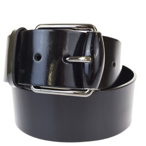 Gucci Auth GUCCI Logos Buckle Belt Leather Black Silver Plated Italy Accesso
