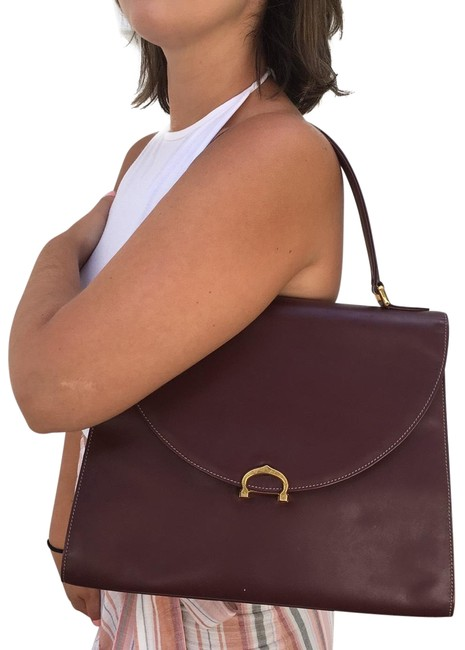 Item - Reserve For Xueqi Kelly Style Burgundy Leather Satchel