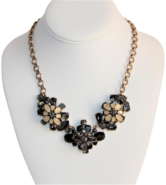 Item - Grey Wow-j Crew Tan Black and Stone Statement Necklace