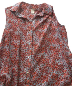 H&M Top blue and red floral
