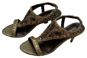Elizabeth and James gold Sandals