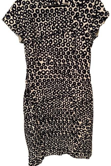Item - Navy and White Mid-length Work/Office Dress Size 4 (S)