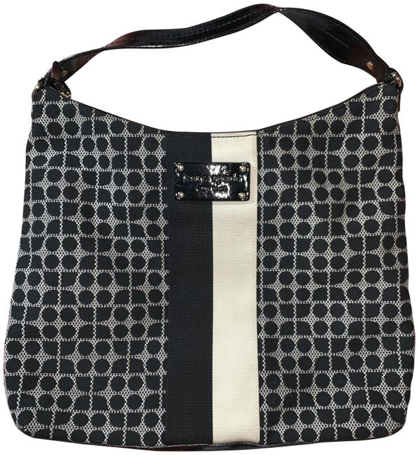 Item - Classic Noel Joisan Black & Cream Cotton Shoulder Bag