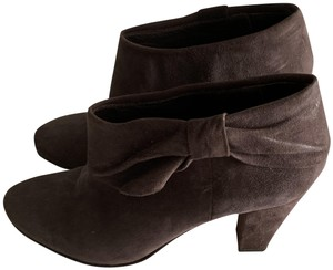 Kate Spade Suede Bow Brown Boots
