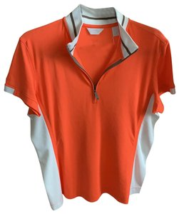 Callaway Top orange with brown and white details