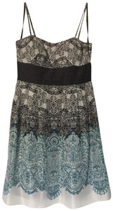 Max and Cleo A-line Silk Empire Waist Patterned Spaghetti Strap Dress