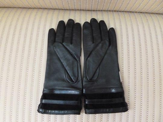 Burberry Burberry Leather Nova Check Buckle Gloves Image 2
