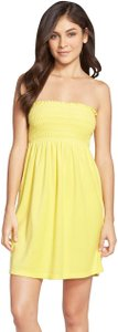 Lilly Pulitzer short dress Yellow Smocked Strapless Terrycloth Swim on Tradesy