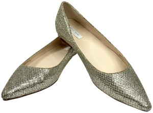 Cole Haan Sparkle Metallic Pointed Toe Special Occasion Wedding Silver Flats